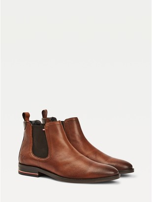 Tommy Hilfiger Signature Leather Chelsea Boot