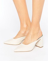 Miss Selfridge Pointed Heeled Mule