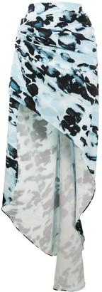 16Arlington Aster draped high-low skirt