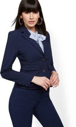 New York & Co. Topstitched Two-Button Jacket - All-Season Stretch - 7th Avenue