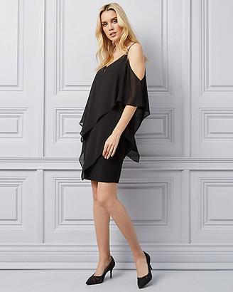 Le Château Chiffon Cold Shoulder Dress