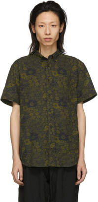 Acne Studios Navy and Green Isherwood Shirt