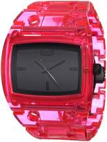 Vestal Women's DESP028 Destroyer Plastic Translucent Neon Pink Watch