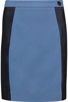 Love Moschino Mesh-Trimmed Jersey Skirt