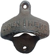 ZXUY Rustic Cast Iron OPEN HERE Bottle Opener Vintage Style Wall Mount MAN CAVE