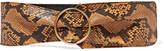 Saint Laurent Snake-effect leather waist belt