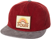 Poler Furry Grampa Cordy Snapback Cap Red