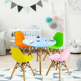 Isa Belle Ewert Kids 5 Piece Play Table and Chair Set Isabelle & Max Color: Blue/Assorted