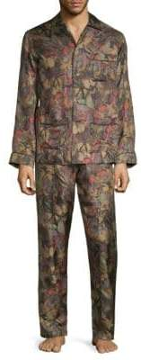 Valentino Two-Piece Printed Silk Pajama Set