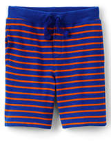 Lands' End Little Boys Pattern Sweat Shorts-Rich Sapphire Stripe