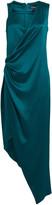 Cushnie Charmeuse Asymmetrical Wrap Dress