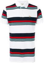 MAISON KITSUNÉ striped polo shirt - men - Cotton/Linen/Flax - S