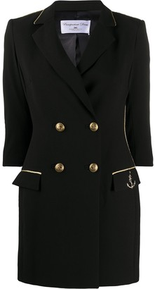 Elisabetta Franchi Chain Trim Buttoned Double-Breasted Dress