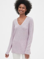 Gap True Soft Textured V-Neck Tunic Sweater