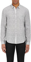 John Varvatos Men's Floral Cotton-Silk Shirt
