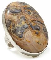 Jay King Crazy Lace Agate Sterling Silver Ring
