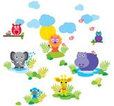 Wall Candy Arts WallCandy French Bull Jungle Wall Decals