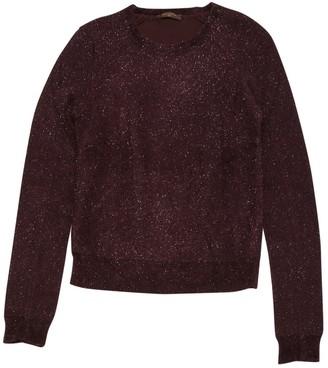 Louis Vuitton Burgundy Synthetic Knitwear
