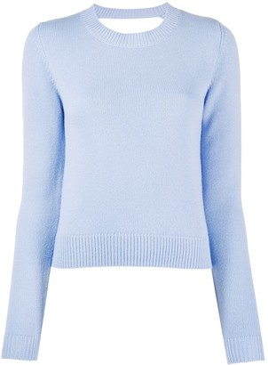 Chinti and Parker Cut-Out Back Cashmere Jumper