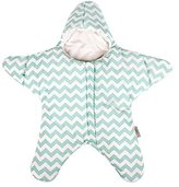 Finerolls Cotton Baby Starfish Sleeping Bag Super Soft Newborn Sleepsack Autumn Winter Warm Strollers Bed Swaddle Blanket Wrap - Suitable for about 0-12M Baby