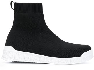 Versace Pull-On High-Top Sneakers