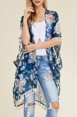 Riah Fashion Floral Kimono Cardigan