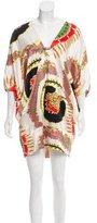 Roberto Cavalli Silk Embellished Tunic w/ Tags