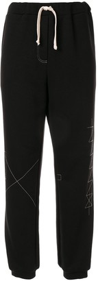 Ruban Drawstring Jersey Trousers