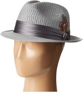 Stacy Adams Polybraid Pinch Front Fedora with Silk Band Fedora Hats