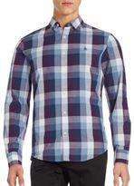 Original Penguin Cotton Blend Plaid Shirt
