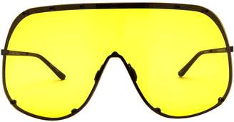 Rick Owens Ros Mask Oversize Sunglasses