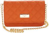 BCBGMAXAZRIA Jaffa Orange Mini Quilted Crossbody Bag