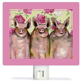 Oopsy Daisy Fine Art For Kids Little Piggies Floral by Eli Halpin Night Light Customize: Yes