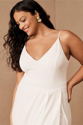 BHLDN Caron V-Neck Crepe Dress