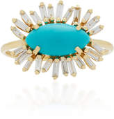 Suzanne Kalan 18K Gold Turquoise and Diamond Ring