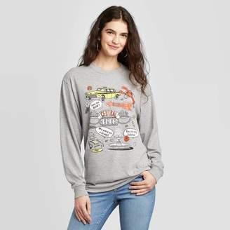 Icons Friends Women's Friends Cartoon Long Sleeve T-Shirt (Juniors') - Gray