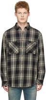 Nudie Jeans Black Calle Shadow Check Shirt