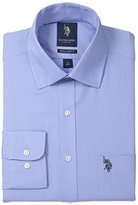 U.S. Polo Assn. Men's Solid Broadcloth Semi Spread Collar Dress Shirt