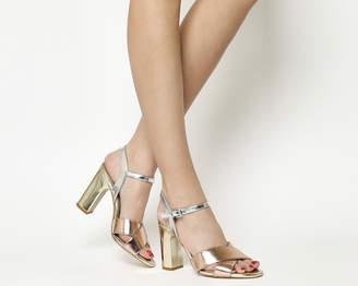 Office Hazel Two Part Sandals Metallic