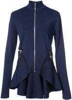 Jonathan Simkhai flared zip jacket - women - Nylon/Polyester/Spandex/Elastane/Rayon - S