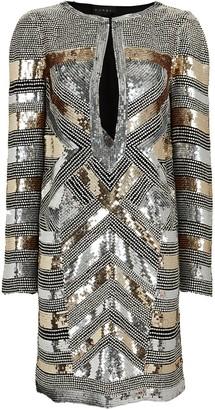 Dundas Striped Sequin Mini Dress