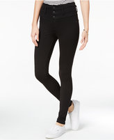 Celebrity Pink Juniors' High-Waist Black Wash Skinny Jeans