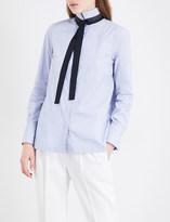 Brunello Cucinelli Tuxedo tie cotton-blend shirt