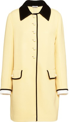 Miu Miu Double Knit Wool Coat