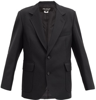 Junya Watanabe Single-breasted Elbow-patch Houndstooth Blazer - Black