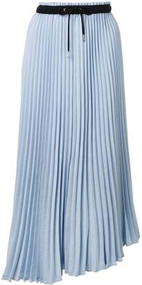 Proenza Schouler White Label Pleated Asymmetric Skirt