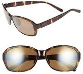 Maui Jim Women's Koki Beach 56Mm Polarizedplus2 Sunglasses - Black And Grey Tortoise/ Grey