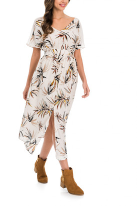 Salsa Jeans - Cream Long Printed Dress - SMALL - Natural