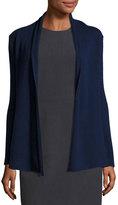 Neiman Marcus Cashmere Open-Front Cardigan, Navy