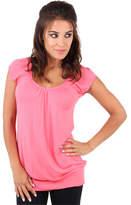 Clothing Women short-sleeved t-shirts Krisp Cute Comfortable T-Shirt Long Design Short Sleeves Casual Top Pink Cute Comfortable T-Shirt Long Design Short Sleeves Casual Top Pink